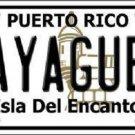 Mayaguez Puerto Rico Metal Novelty License Plate