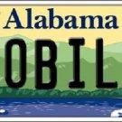 Mobile Alabama Background Novelty Metal License Plate