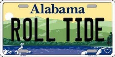 Roll Tide Alabama Background Novelty Metal License Plate