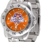 Clemson Tigers 2016 National Champions Mens' Sport Steel AnoChrome Watch