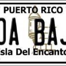 Toa Baja Puerto Rico Metal Novelty License Plate