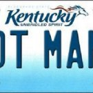 Hot Mama Kentucky Novelty Metal License Plate