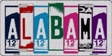 Alabama License Plate Art Brushed Aluminum Metal Novelty License Plate
