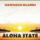 Hawaiian Islands Hawaii Blank State Background Novelty Metal License Plate