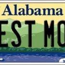 Best Mom Alabama Background Novelty Metal License Plate