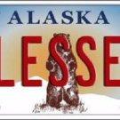 Blessed Alaska State Background Novelty Metal License Plate