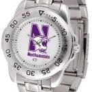 Northwestern Wildcats Mens' Sport Steel Watch