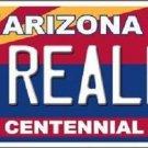 Arizona Centennial Really Metal Novelty License Plate