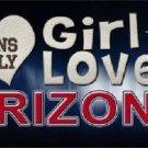 This Girl Loves Arizona Novelty Metal License Plate