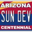 Arizona Centennial Sun Devils Metal Novelty License Plate