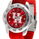 Houston Cougars Sport AnoChrome Colored Band  Watch