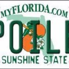 Spoiled Florida Novelty Metal License Plate