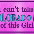 Colorado Girl Novelty Metal License Plate