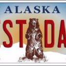 Best Dad Alaska State Background Novelty Metal License Plate