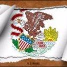 Illinois Flag Scroll Novelty Metal License Plate