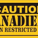 Caution Canadiens Vanity Metal Novelty License Plate