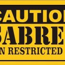 Caution Sabres Vanity Metal Novelty License Plate