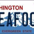 Seafood Washington Background Novelty Metal License Plate