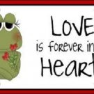 Love In Our Hearts Valentine (Frog) Vanity Metal Novelty License Plate