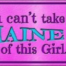 Maine Girl Novelty Metal License Plate