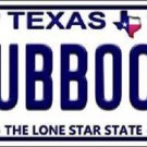 Lubbock Texas Background Novelty Metal License Plate