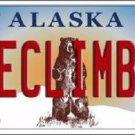 Ice Climber Alaska State Background Novelty Metal License Plate