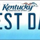Best Dad Kentucky Novelty Metal License Plate