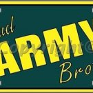 Proud Army Brother Novelty Vanity Metal License Plate