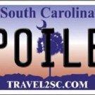 Spoiled South Carolina Novelty Metal License Plate