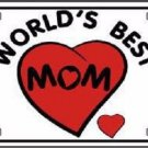 Worlds Best Mom Novelty Metal License Plate