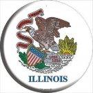 Illinois State Flag Novelty Metal Circular Sign