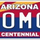 Arizona Centennial OMG Metal Novelty License Plate