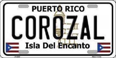 Corozal Puerto Rico Metal Novelty License Plate