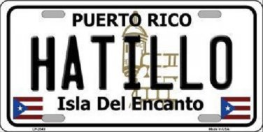 Hatillo Puerto Rico Metal Novelty License Plate