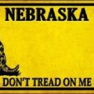 Nebraska Dont Tread On Me Novelty Metal License Plate