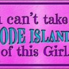 Rhode Island Girl Novelty Metal License Plate