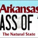 Class Of 18 Arkansas Background Novelty Metal License Plate