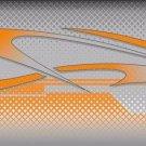 Orange Tribal Graphic Vanity Metal Novelty License Plate