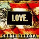 South Dakota Love Novelty Metal License Plate