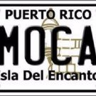 Moca Puerto Rico Metal Novelty License Plate