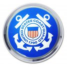Coast Guard Chrome Emblem (BLUE Seal)