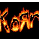 Korn on Fire Photo License Plate