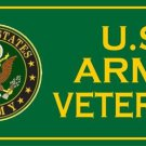 U.S. Army Veteran Green Photo License Plate