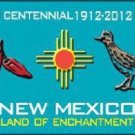 Red Chili & Road Runner New Mexico Teal Novelty Metal License Plate