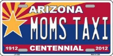 Arizona Centennial Moms Taxi Metal Novelty License Plate