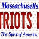 Patriots Fan Massachusetts Background Novelty Metal License Plate