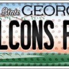 Falcons Fan Georgia Background Novelty Metal License Plate