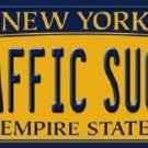 Traffic Sucks New York Background Novelty Metal License Plate