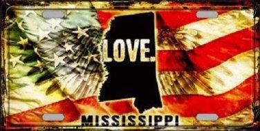 Mississippi Love Novelty Metal License Plate