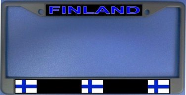 Finland Flag Photo License Plate Frame